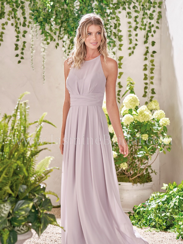 68418ffd80 Discription  Beautiful poly chiffon dress with an illusion neckline and  ruching at the bodice and skirt. Ruched waistband and vertical slit on the  top back ...